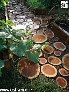 تزئین با تنه درخت
