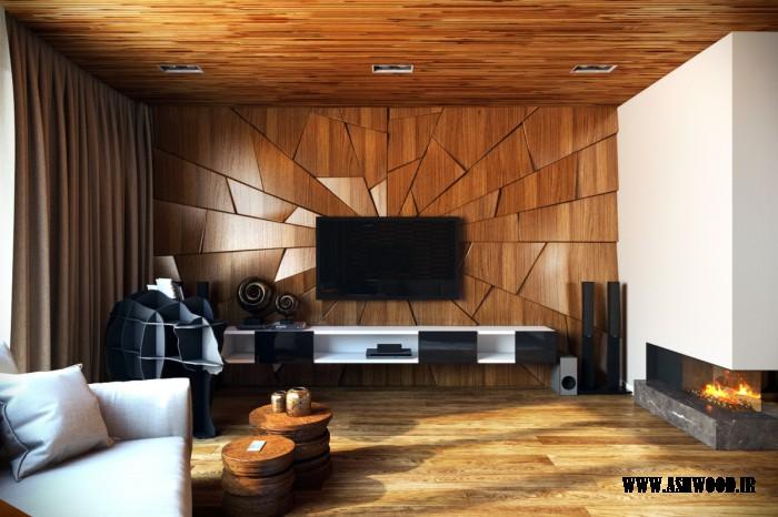 50 ایده تزئین اتاق نشیمن , دیوار و میز تلویزیون جالب و جدید 2018