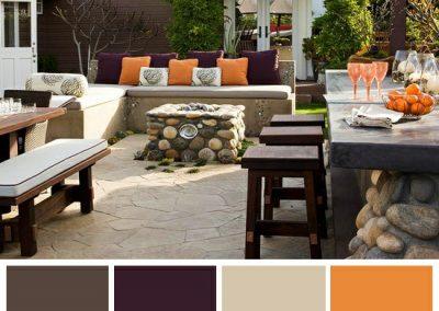 پالت رنگ پاسیو ( برترینهای رنگ مناسب فضای بیرونی )