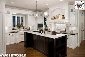 کابینت آشپزخانه 2018 با دورنگ متفاوت در دکوراسیون و دیزاین آشپزخانه جدید