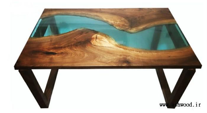 ایده میز تخته گردو اسلب رزین , فوق العاده خاص و زیبا