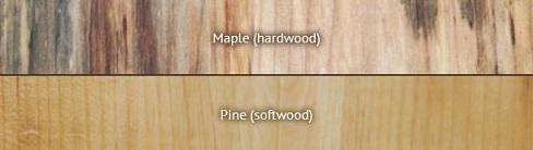 چوب نرم نسبت به چوب سخت