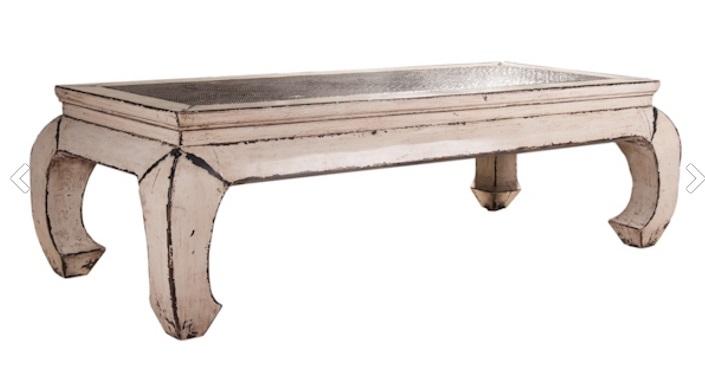 میز جلو مبلی سبک روستیک پتینه شده
