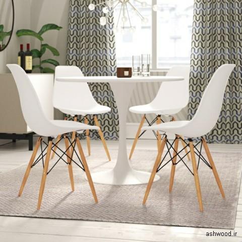 12 صندلی غذاخوری شیک و ساده با طرح میان قرنی