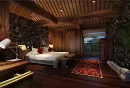 دکوراسیون اتاق خواب چوبی