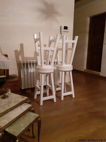چهارپایه چوبی , ساخت چهارپایه , صندلی و میز چوبی