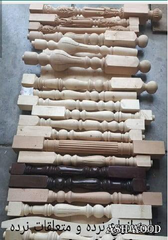 مدل نرده چوبی خراطی و cnc با چوب کاج و راش