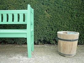 سطل اشغال فضای باز , سطل چوبی