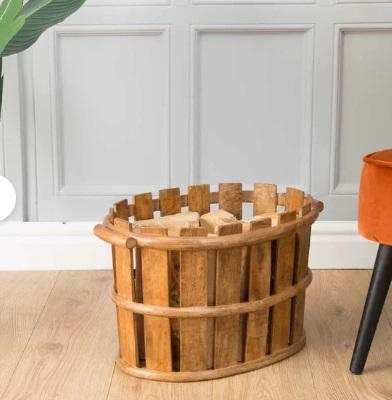 سطل چوبی , سطل زباله , سطل چوبی مناسب فضای باز