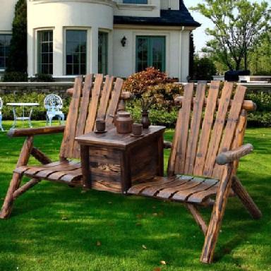 میز و صندلی , نیمکت چوبی فضای باز