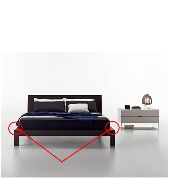 یک طرح جالب از تخت خواب چوب بلوط