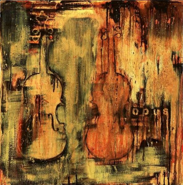 1947 نقاشی در اتاق چوب
