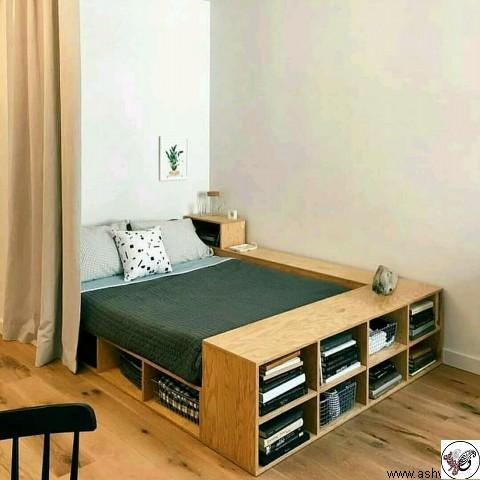 ایده و مدل تخت خواب مدرن چوبی