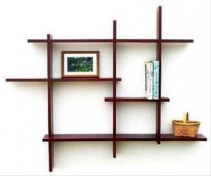 عکس از ایده قفسه بندی چوبی
