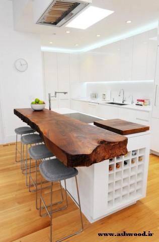 استفاده از چوب در دکوراسیون آشپزخانه