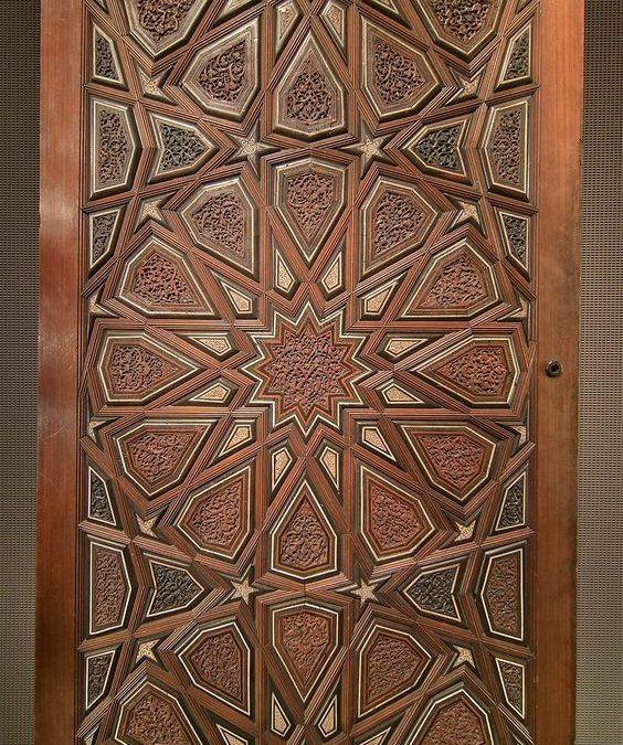 درب چوبی مسجد