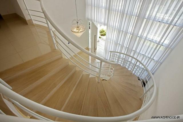 مدل های راه پله چوبی با انواع طرح های جدید و کاربردی , ایده های طراحی و ساخت پله چوبی داخل ساختمان
