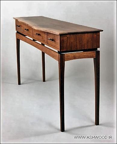 کنسول چوب زیبا و دست ساز چوبی