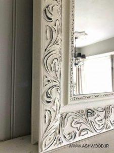 قاب آینه منبت کاری شده