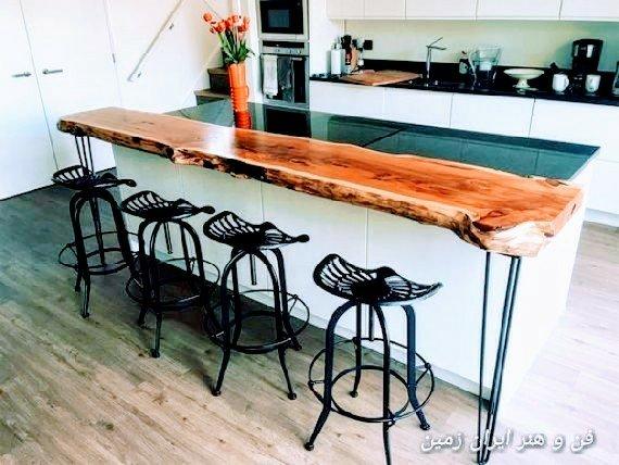 ایده برداری ساخت میز با اسلب چوبی
