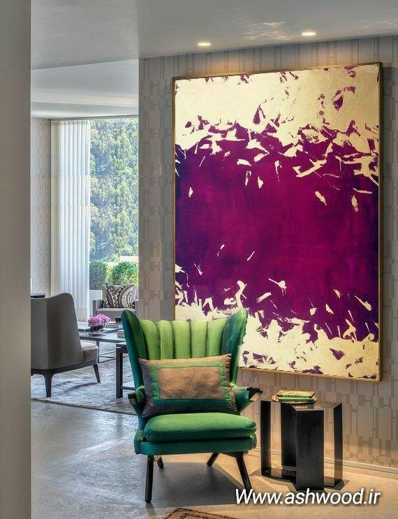 ایده ها و روش های نقاشی روی دیوار، رنگ غلطک ورق طلا