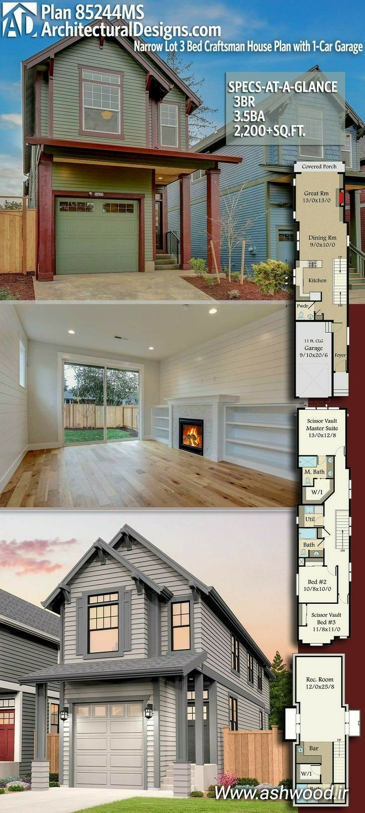 ایده های جالب کلبه چوبی + پلان و نقشه