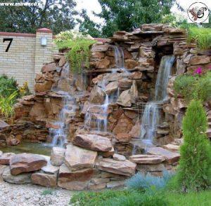 طراحی زیبای آبنما سنگی