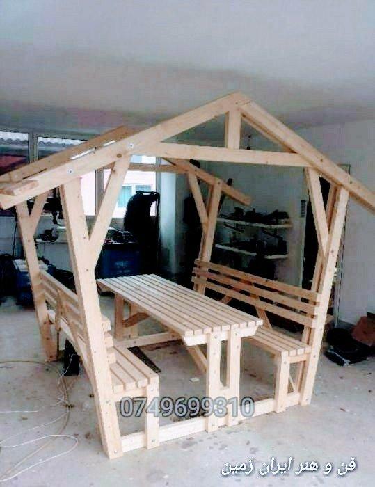 عکس کلبه، خانه چوبی آلاچیق