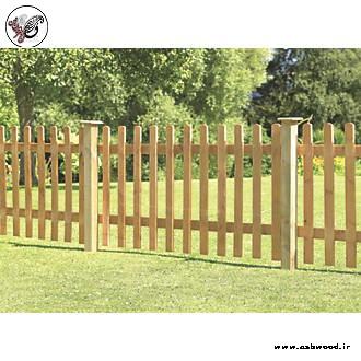 فنس و حصار چوبی دور باغچه , نرده چوبی باغچه