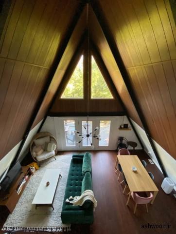 برترین شله و ساختمان های چوبی امریکا , کلبه چوبی a frame