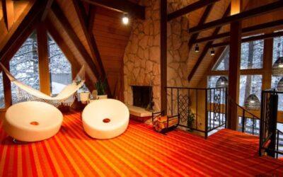 تصاویر کلبه های چوبی رویایی و ویلایی