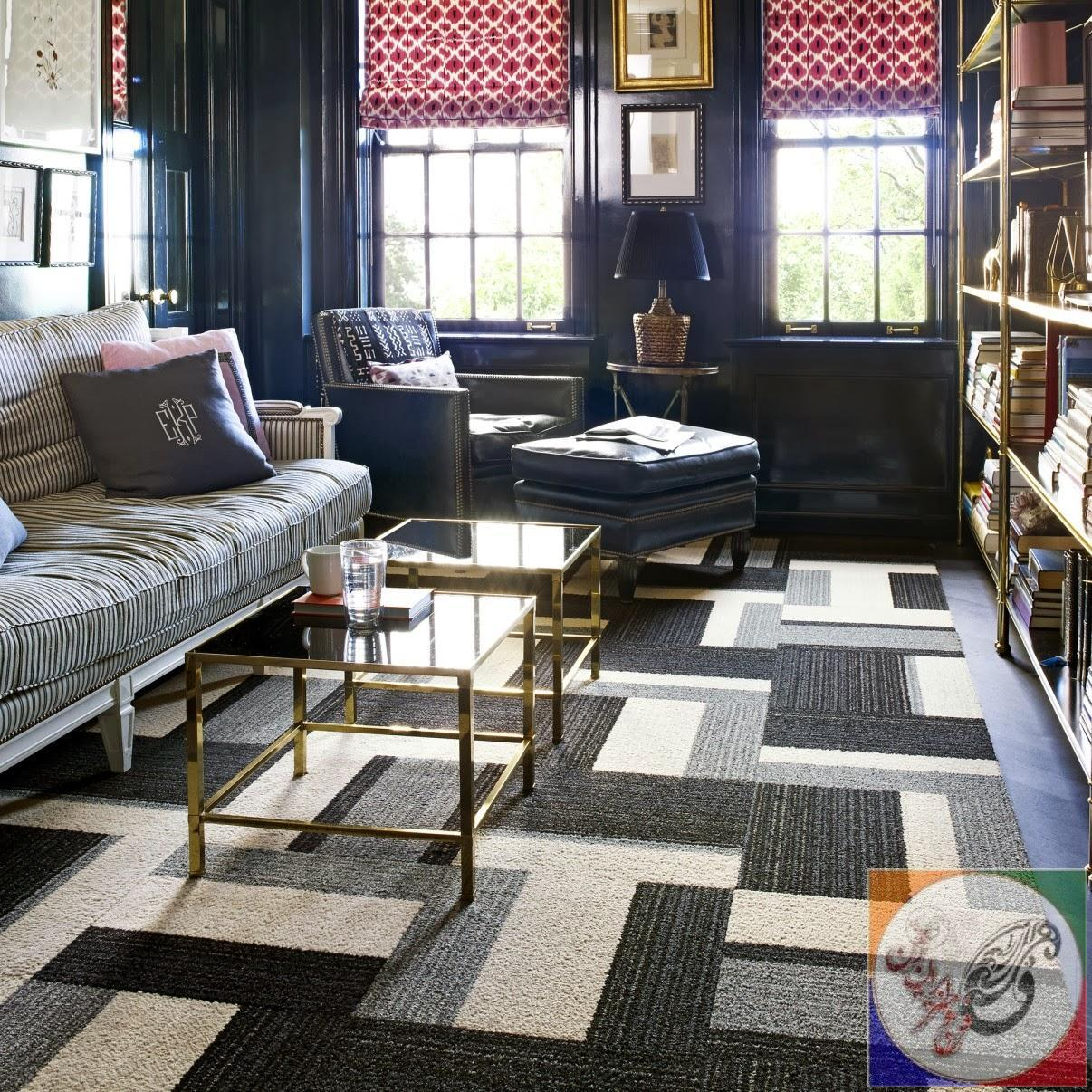 antastic Living Room Decoration Using Square Grey Carpet tiles