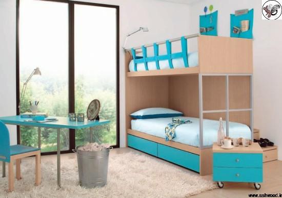 عکس تخت خواب دو طبقه
