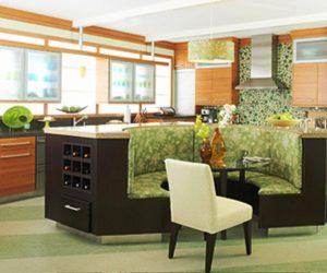 ترکیب چوب ، فلز و شیشه در طراحی دکوراسیون آشپزخانه ، رنگ بندی حرفه ای و فوق العاده زیبا