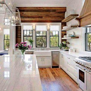 دکوراسیون چوب طبیعی منزل و آشپزخانه , ضامن سلامتی خانواده