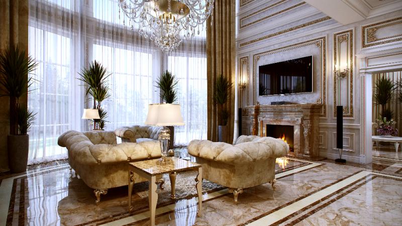 طراحی داخلی آپارتمان دوم با تلفیق سبک دکوراسیون نئوکلاسیک و مدرن