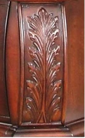 چوب منبت رنگ فندقی