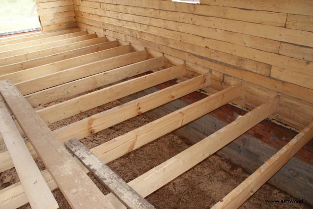 ساخت کلبه چوبی , کف چوبی