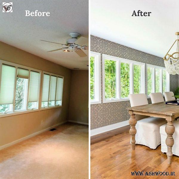 دیزاین و دکوراسیون داخلی قبل و بعد از بازسازی