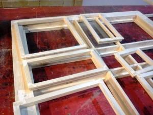 پنجره گره چینی تمام چوب با چارچوب 15 سانتی از چوب کاج روسی