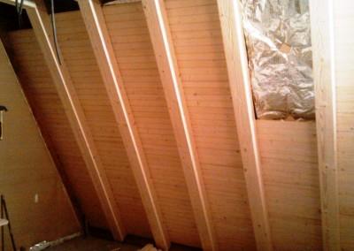 دکوراسیون چوبی ستون چوبی تیر چوبی سقف