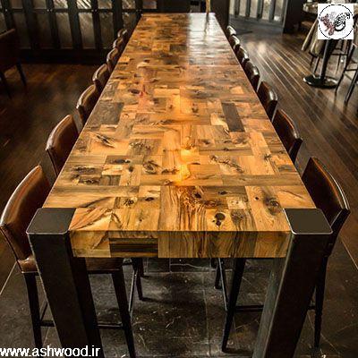 میز چوبی ، دکوراسیون چوبی , میز آشپزخانه ، میز تحریر ، میز تمام چوب کاج روسی