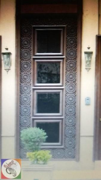 درب چوبی گره سازی ، درب قدیمی شمسه 12