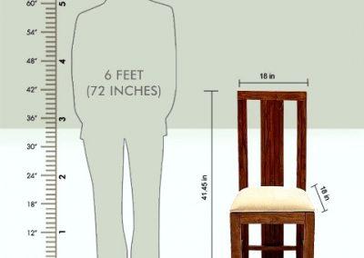 استاندارد اندازه صندلی