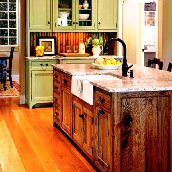 میز کار جزیره آشپزخانه با چوب شاه بلوط