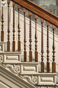نرده چوبی٬ هندریل پله٬ کف پله٬