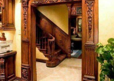 پانل های دیواری چوبی , درب چوبی