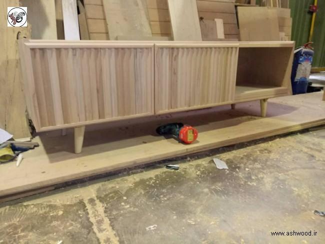 دکوراسیون چوبی منزل , میز تلویزیون , کنسول چوبی