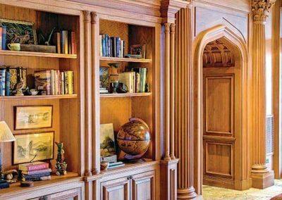قفسه و کتابخانه کلاسیک و لوکس چوبی
