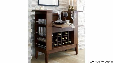 میز بار چوبی , کانتر بار , بار دیواری , مدل بار دیواری